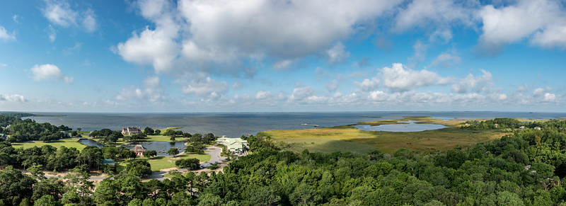 Panoramic View from Top of Currituck Lighthouse, Corolla, NC 8/18/17