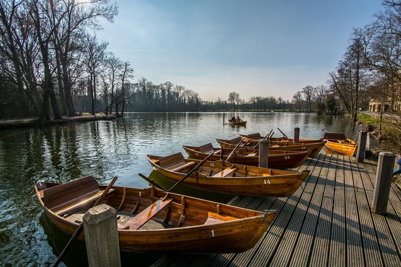 Rowboats on Lake, Germany