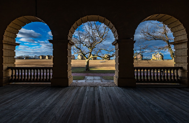 A View Of Officer's Row In Fort Hancock, Sandy Hook, NJ 1/5/20
