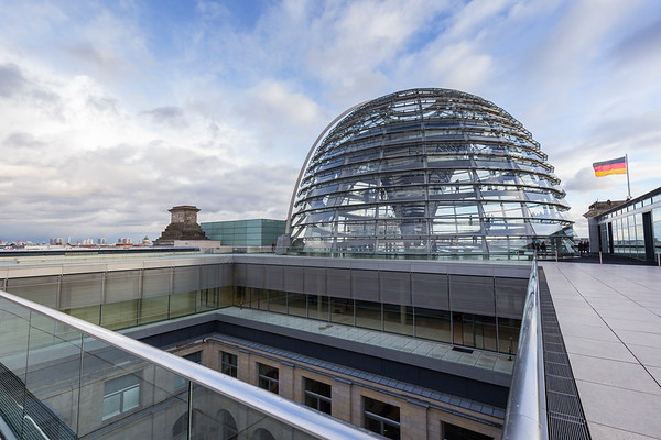 Exterior of the Reichstag dome in Berlin