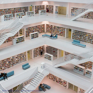 Public Library in Stuttgart Germany
