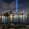 The Tribute in Light Over The Brooklyn Bridge 9/11/19