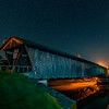A Starry Night Over Downsville Covered Bridge 8/23/19