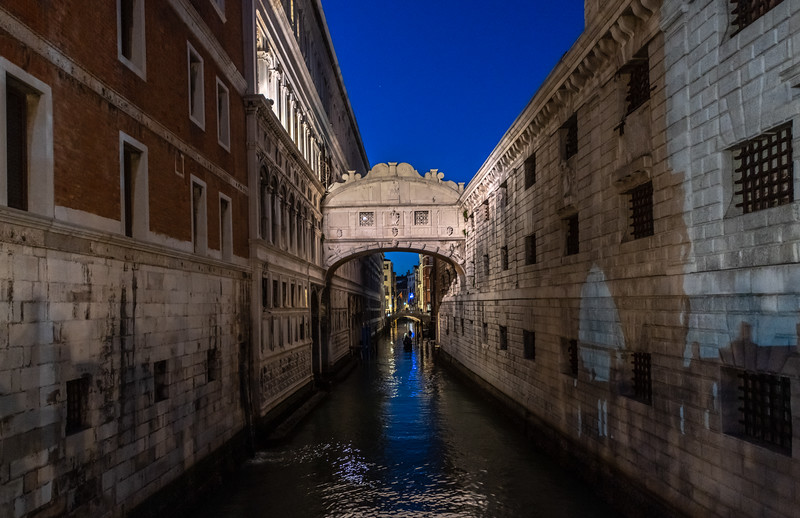 Bridge of Sighs in Venice Italy 3/23/19