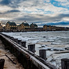 Frozen Bay at Officer's Row in Sandy Hook 1/13/18