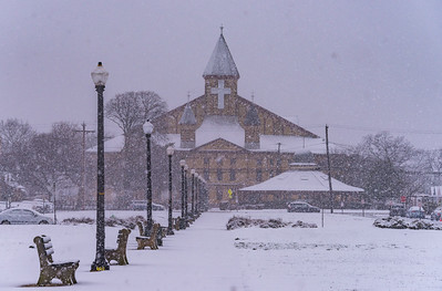Snowy Scene at Great Auditorium in Ocean Grove 3/13/18