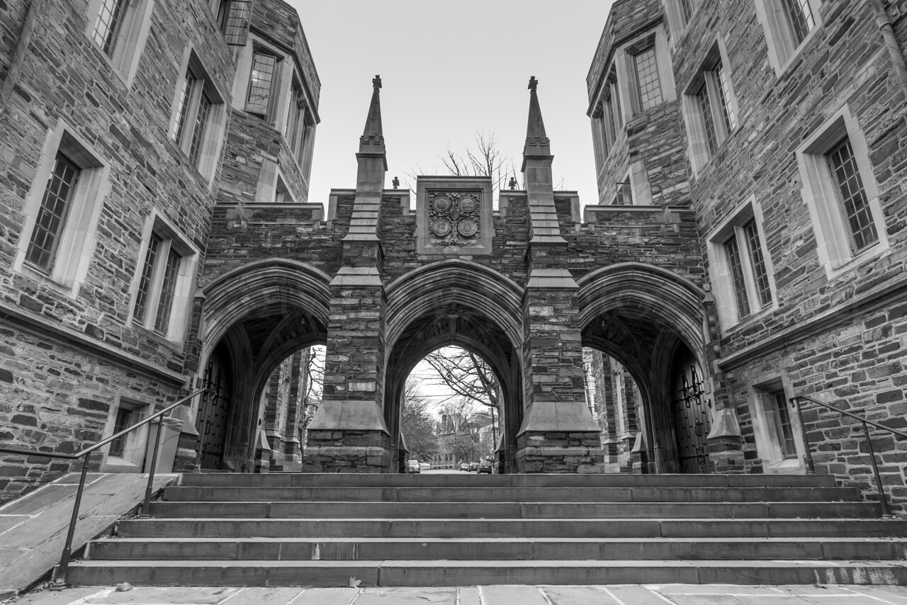Walkway at Princeton University 1/19/17
