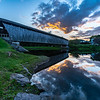 Sunset Over Downsville Covered Bridge 8/23/19