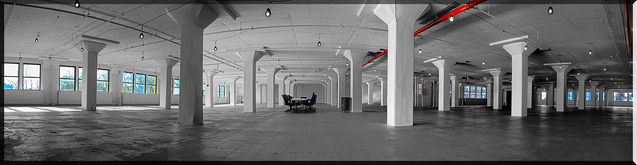 Vacant 4th floor panoramic.  New York Office tower.