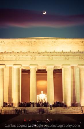 Lincoln Memorial, Moon Cameo
