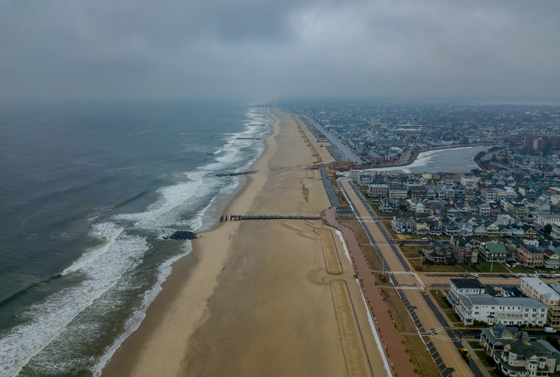 Aerial View Looking South to Ocean Grove 1/17/18
