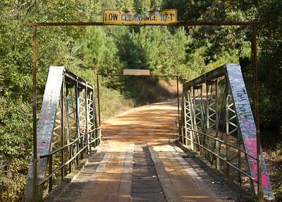Metal bridge in rural Alabama