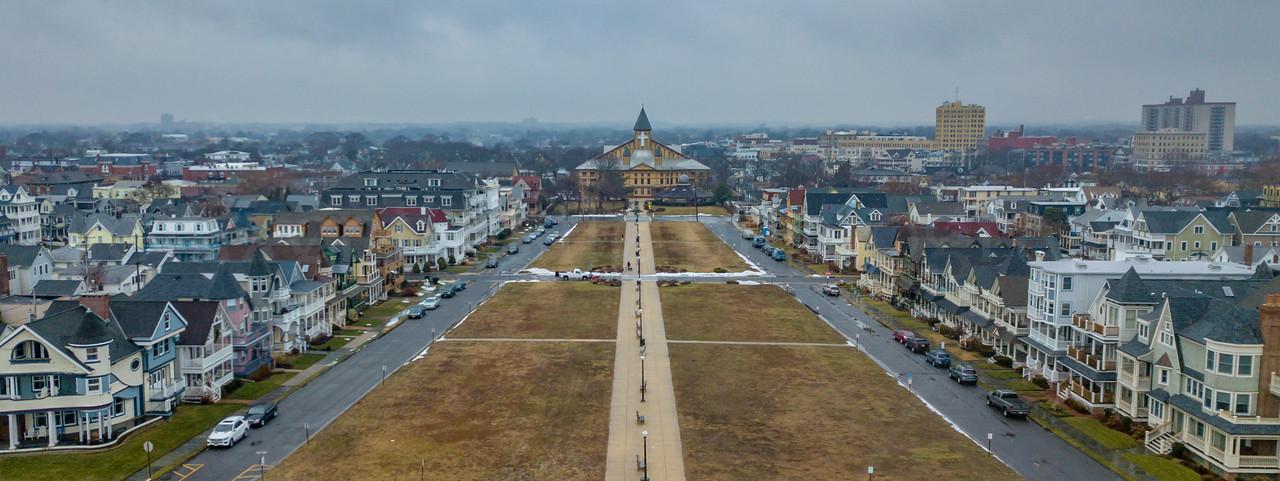 Aerial View of Great Auditorium in Ocean Grove 1/17/18