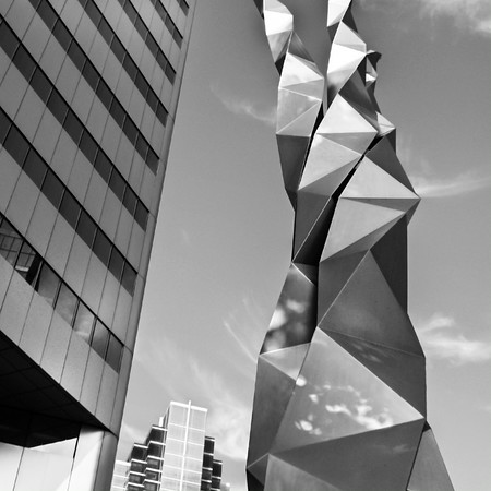 Triad, sculpture  by Ted Bieler, 1984, Toronto