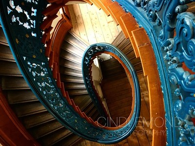 Blue Spiral Stairs