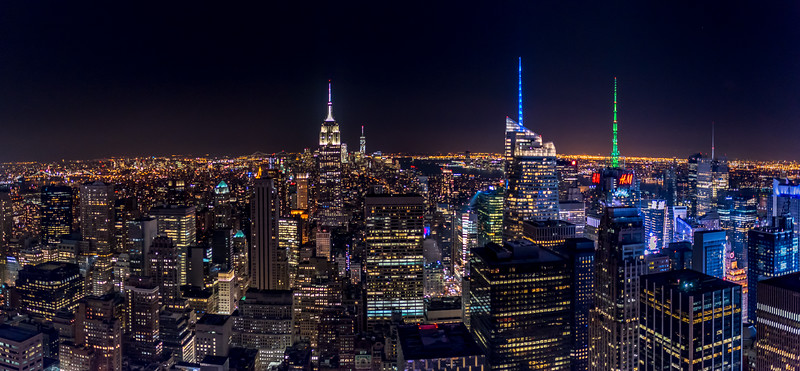 Southern View of New York City Skyline 1/15/17