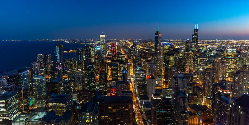 Chicago Skyline at Dusk 9/13/18