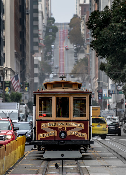A Cable Car Street View, San Francisco, CA 11/6/19