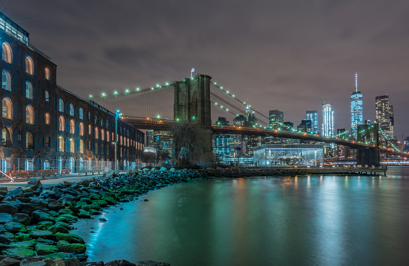 Brooklyn Bridge and NYC Skyline 1/28/17