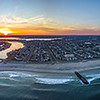 Fiery Sunset Over Jersey Shore Panorama 2/18/18