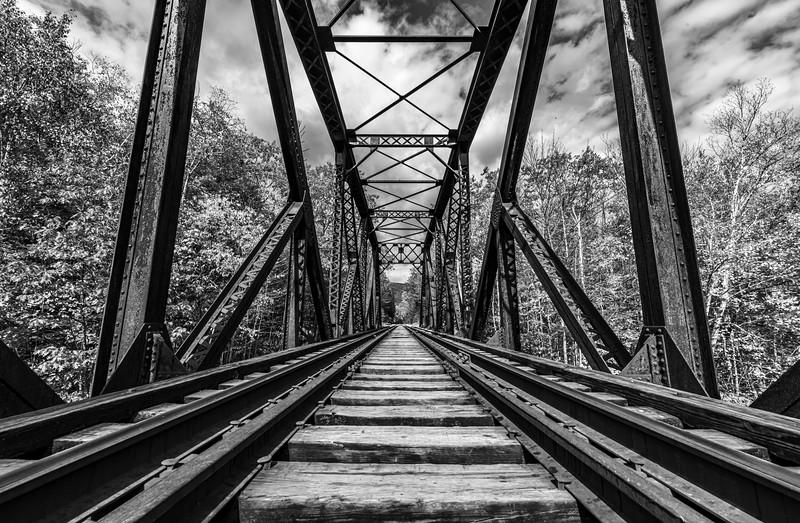 A Railway Trestle Bridge In The White Mountains, NH 10/5/20
