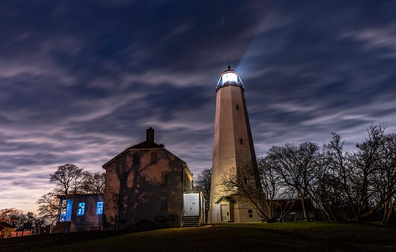 Dusk Over Sandy Hook Lighthouse 11/25/18