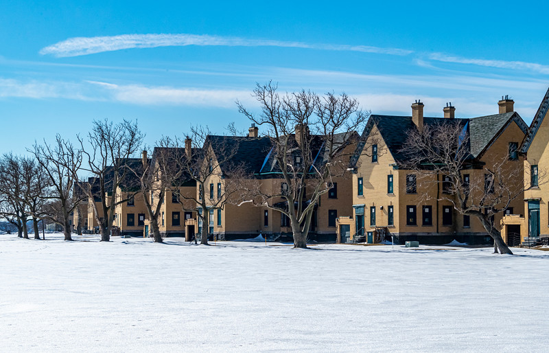 A Snowy Scene At Officer's Row In Sandy Hook 2/6/21