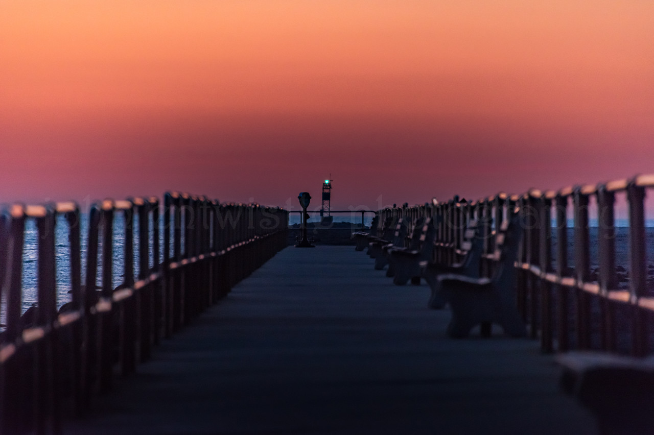 Predawn Colors Over Walkway at Barnegat Inlet 1/21/18