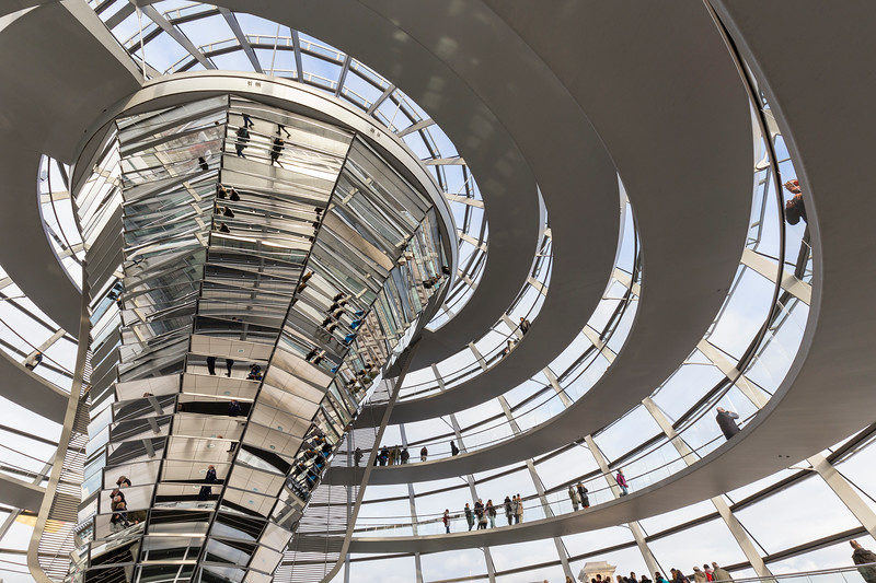 Inside the Reichstag dome in Berlin