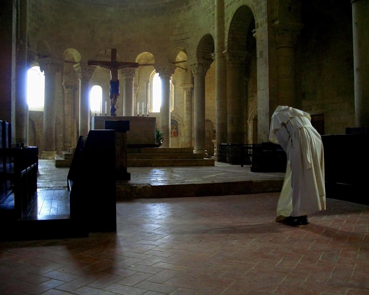 San Antimmo Abbey Monk