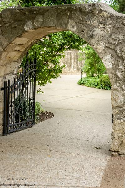 Gate to The Alamo Garden: San Antonio, TX