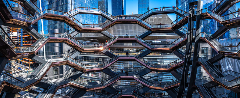An Inside View Of The Vessel At Hudson Yards, New York City 3/1/20