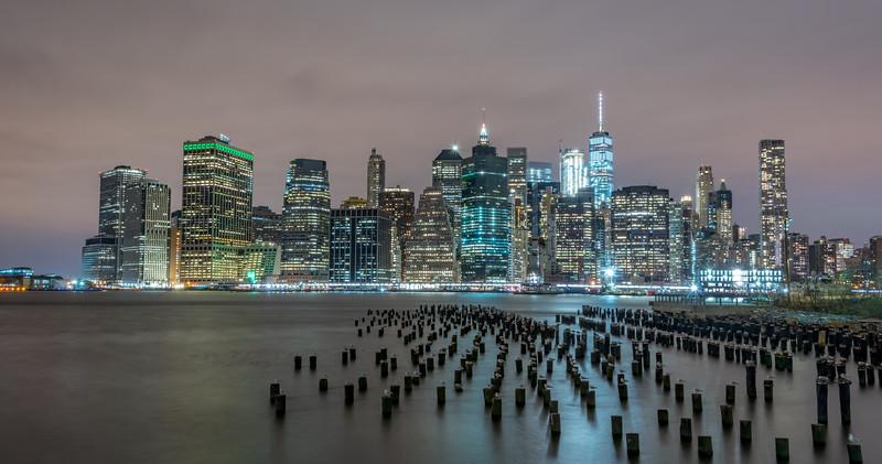 Lower Manhattan Skyline Panorama from Brooklyn 1/28/17