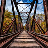 Autumn Foliage Around A Railway Trestle Bridge In The White Mountains, NJ 10/5/20