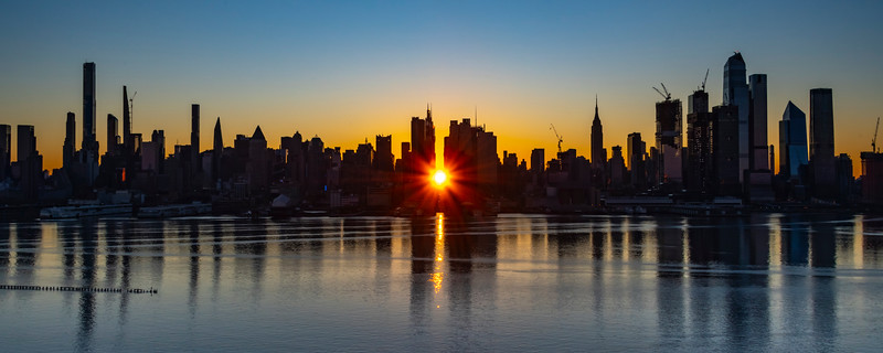 Sunrise Bursting Down 42nd Street, AKA Reverse Manhattanhenge 11/29/20