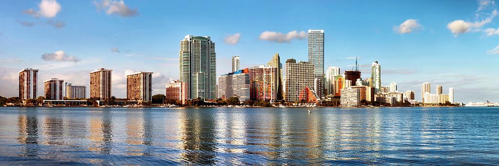 Colorful Miami Waterside Architecture