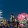 Fireworks Over The Freedom Tower In Lower Manhattan 6/15/21