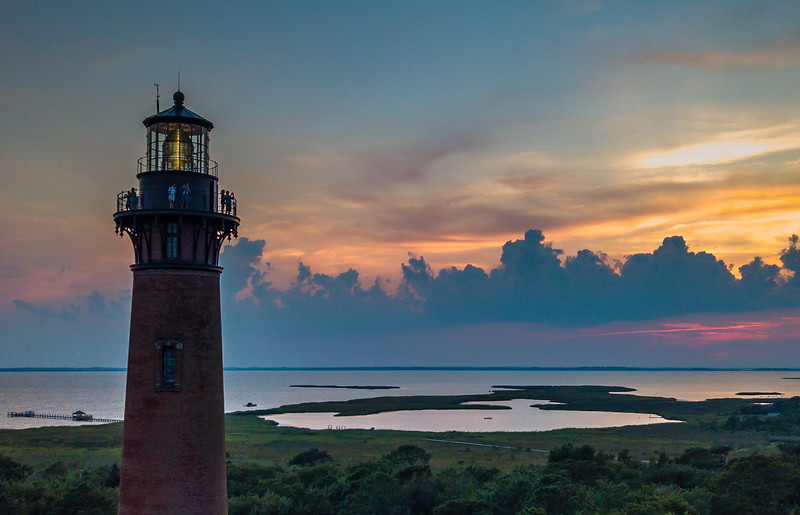 Sunset Over Currituck Lighthouse, Outer Banks 8/16/18
