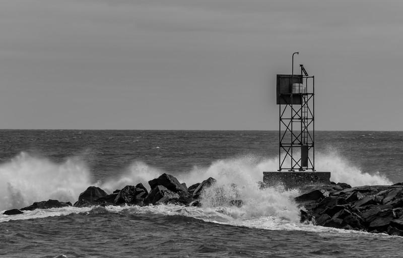 Roughs Seas at Shark River Inlet 3/3/18