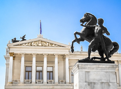 What's one of the most visited tourist attractions in Vienna? The gorgeous Austrian Parliament building.
