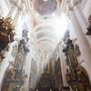 Inside the St. Thomas' Church in Prague