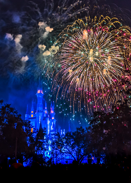 Fireworks Over Walt Disney World Castle 11/16/17