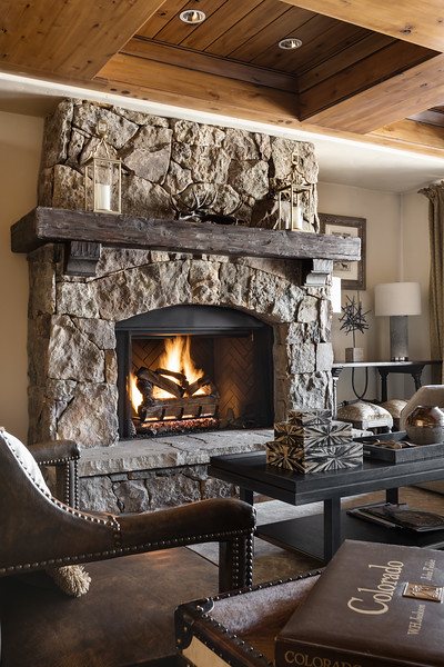 Fireplace; Ritz Carlton Bachelor Gulch, Beaver Creek, Colorado, United States