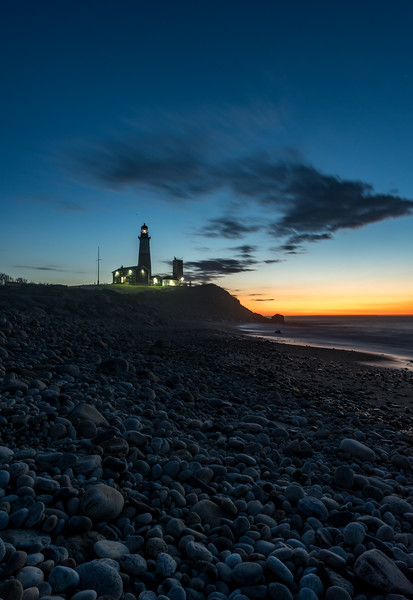 Predawn Colors Over Rocky Beach at Montauk Point Lighthouse 5/3/17