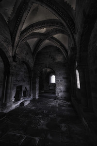 The chapel in the Newcastle castle Keep given the spooky treatment.