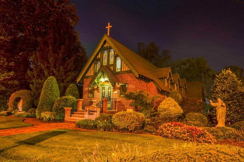 St. Catherine's Chapel at Night, Farmingdale, NJ