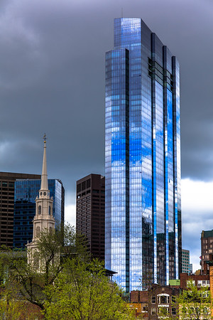 Millennium Tower with Park Street Church, Boston, MA, USA