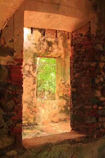 Windows of an old sugar mill, St. John, USVI