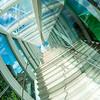 Escalier extérieur vitré
