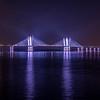 The Tappen Zee (Mario Cuomo) Bridge Reflecting In The Hudson River 12/11/20